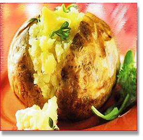 jacket potato oven cooked