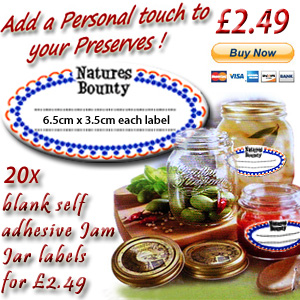 20 x jam jar labels for £2.49