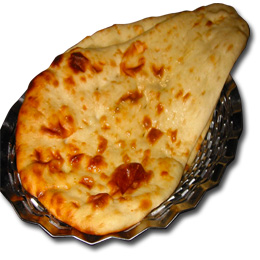 naan bread on plate