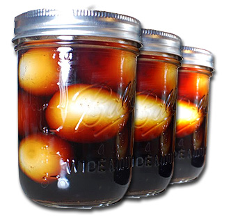 pickled onions in jars