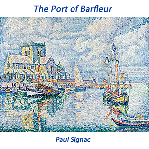 the port of barfleur a painting by Paul Signac