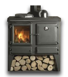 a wood burner stove
