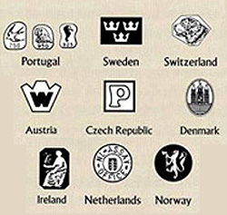 foreign silver marks