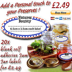 add a personal touch to your jam 20x blank self adhesive jam jar labels